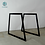 Thumbnail: Trapezoid Steel Dining Table Legs (set of 2). Metal Table Legs.