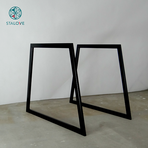 Trapezoid Steel Dining Table Legs (set of 2). Metal Table Legs.