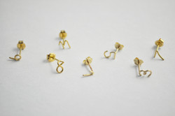 Number Piarced Earring