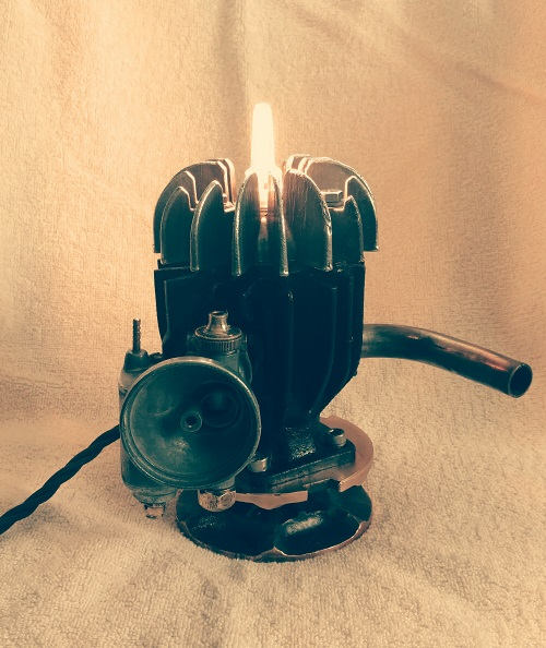 Vintage engine touch lamp