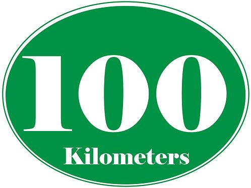 100K - Bumper stickers