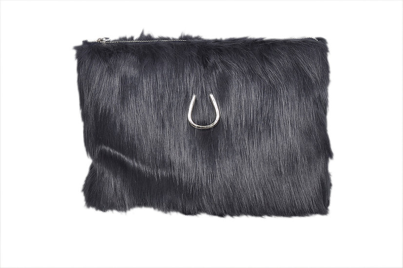 Faux Fur BACE Laptop Case & Clutch