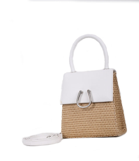 White Wicker Micro DEM Bag