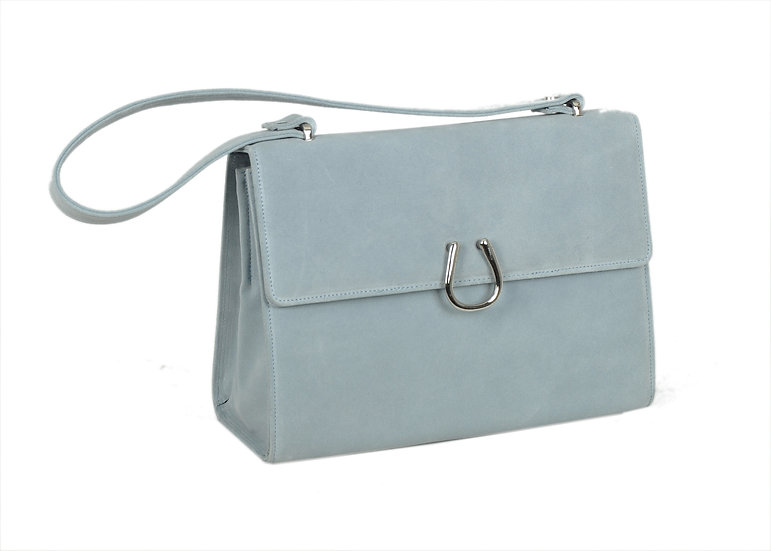 Baby-Blue Sued Leather SEL