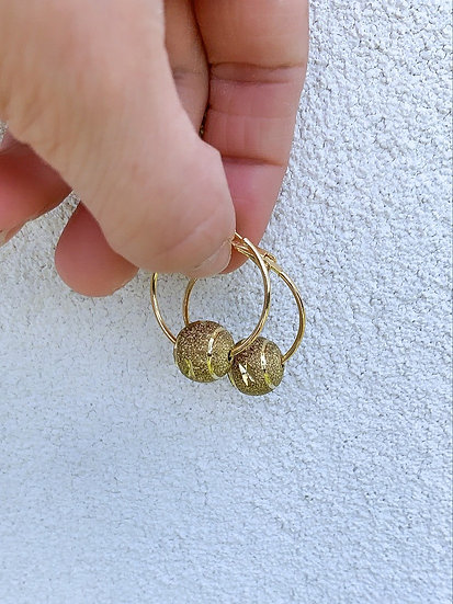 Gold Plated Bauble Hoops