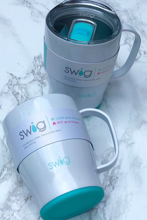 Swig White Travel Mug