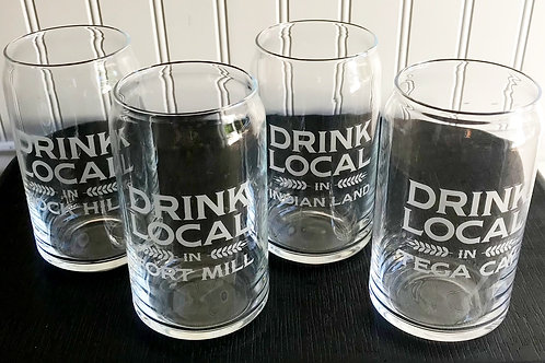 Drink Local Beer Glass