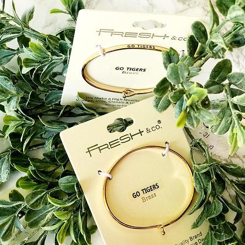 Clemson & Gamecocks Brass Bracelet