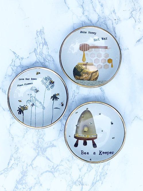 Bee Mini Plate/Tea Bag Holder