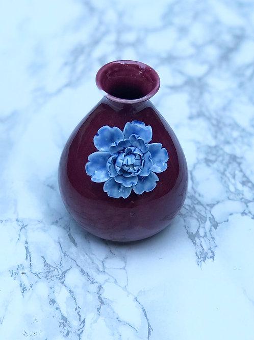 Mini Eggplant Vase with Flower