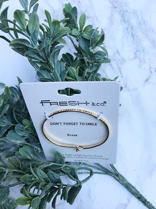 Brass Quote Bracelet