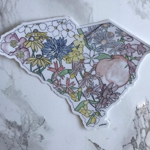 SC Floral Sticker