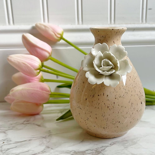 Mini Pink Vase with Flower