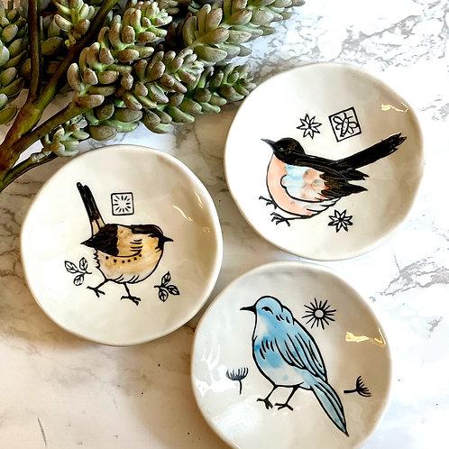 Mini Ceramic Bird Plates