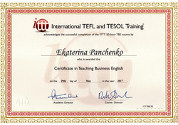 Certificate in Teaching Business English