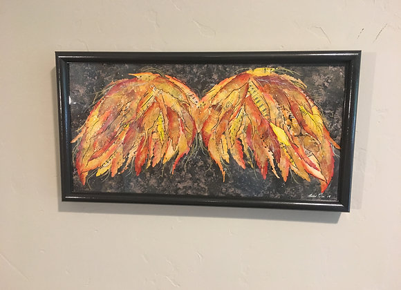 "Mixed Media Wings ""Humble Fire"""