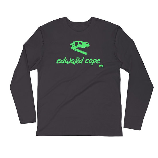Men's Long Sleeve Fitted Crew (Neon Green)