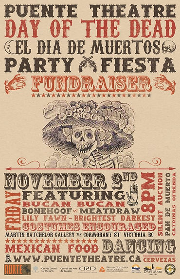 Day of the Dead Fundraiser - Poster 2012
