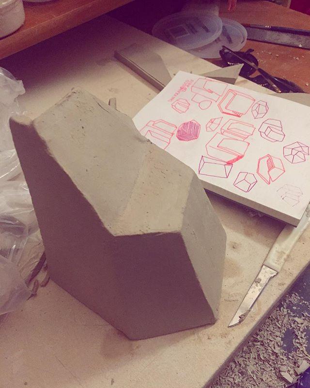 Making more shapes. #ceramics.jpg