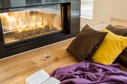 Diani Villa Living Room Fireplace