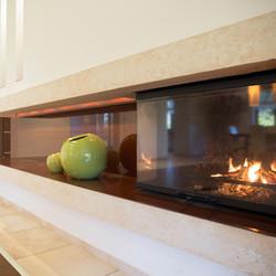 Lamu Villa Living Room Fireplace