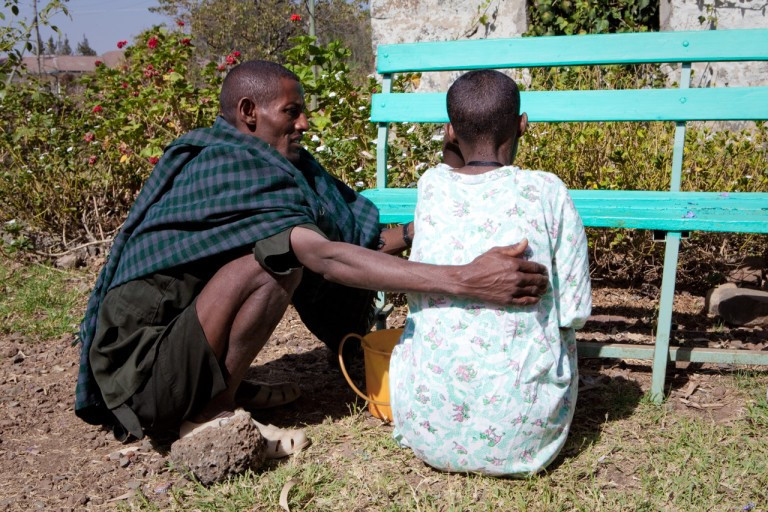 ethiopian father supporting daughter during menstruation