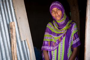 Ethiopian woman in Mota. Dignity Period program manager.