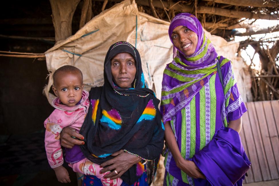 Ethiopian women in Mota.