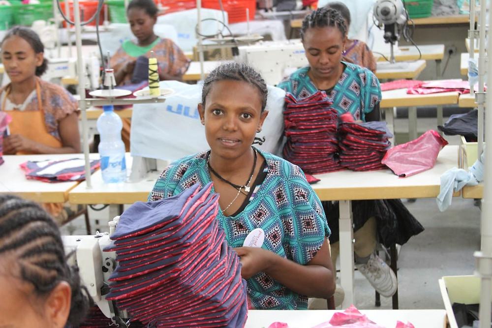 meriam seba sanitary pad factory in ethiopia