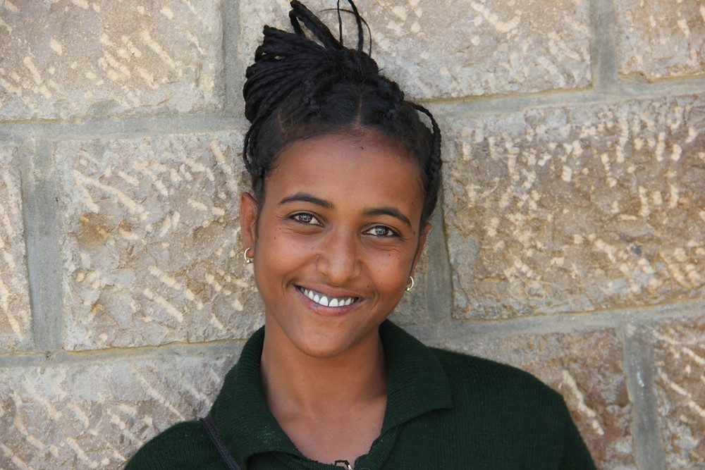 Ethiopian girl learning about menstruation from dignity period