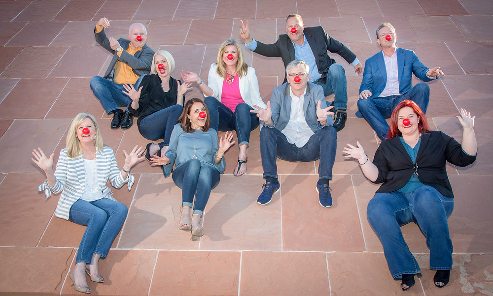 The Archbow team donned red noses as part of national Red Nose Day.