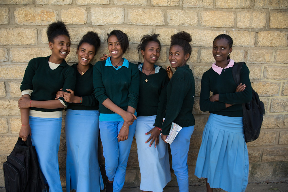 Ethiopian girls receive menstruation supplies from Dignity Period