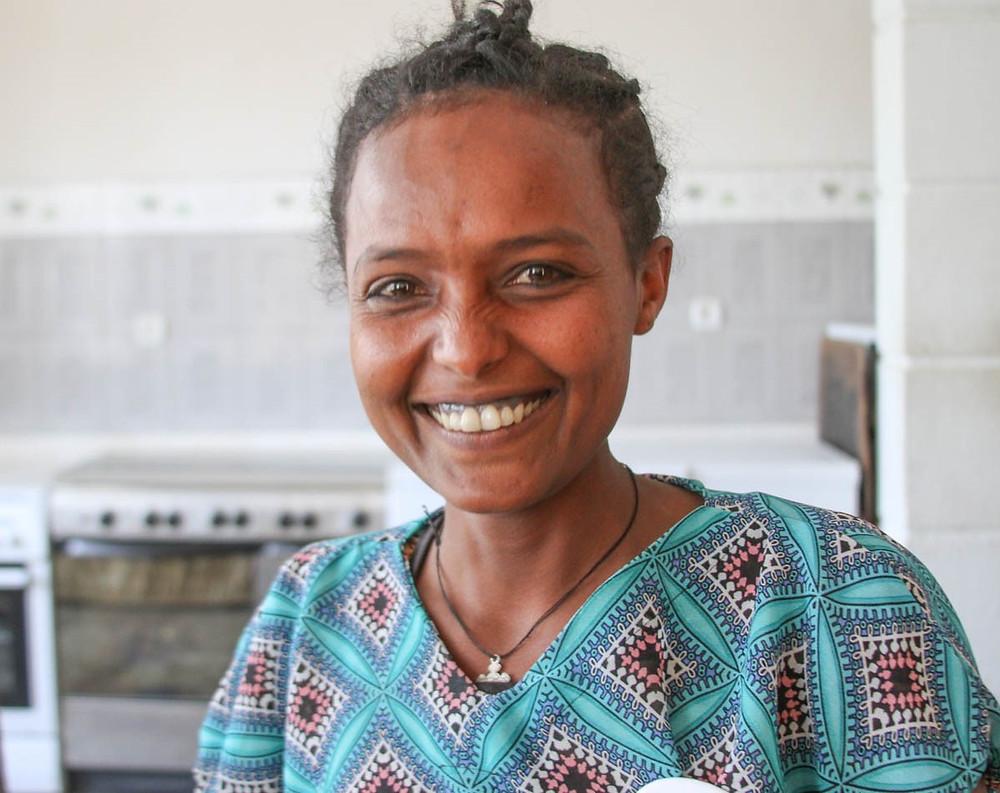 ethiopian woman who works at Meriam Seba factory