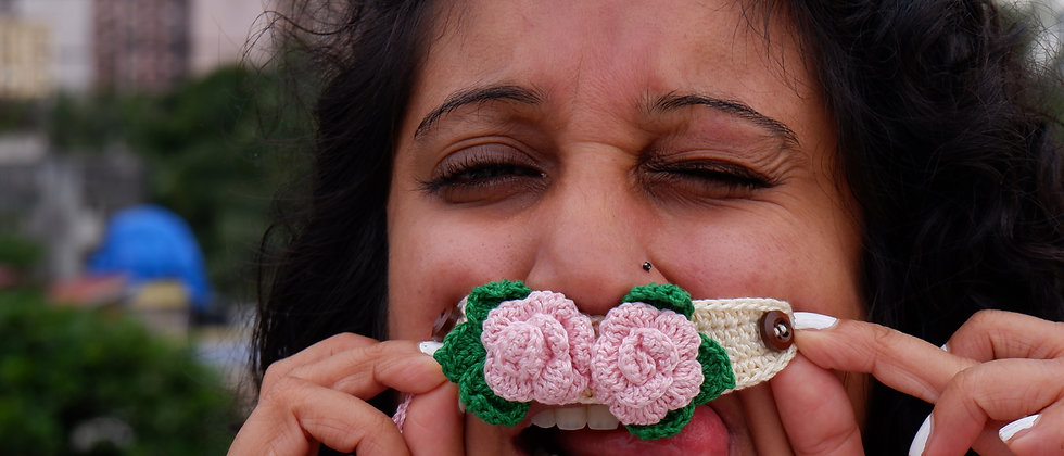 Floral Crochet Face Masks