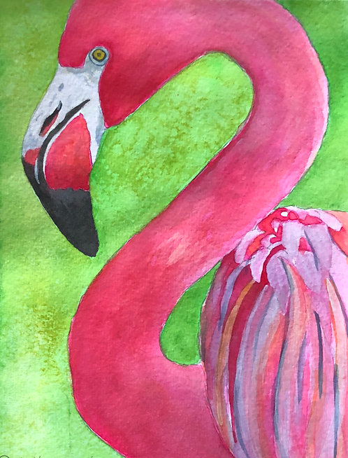 """Pretty In Pink"" An Original Watercolor"