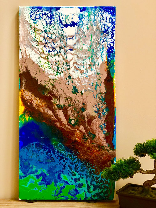 """""""Earths Lava Flow"""" -  An Abstract Acrylic Painting"""