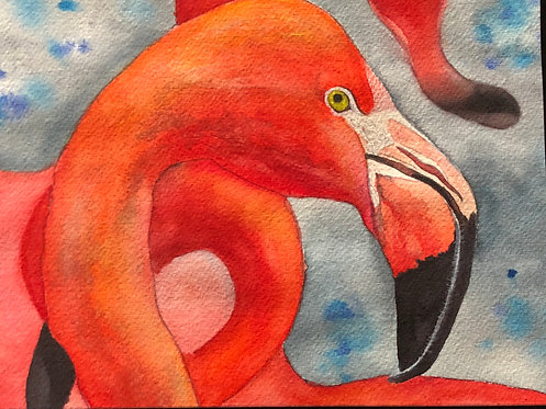 """Flamingo Pride"" An Original Watercolor"