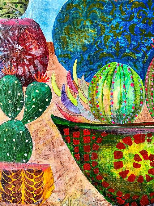 Colorful Cactus Pots (Acrylic)