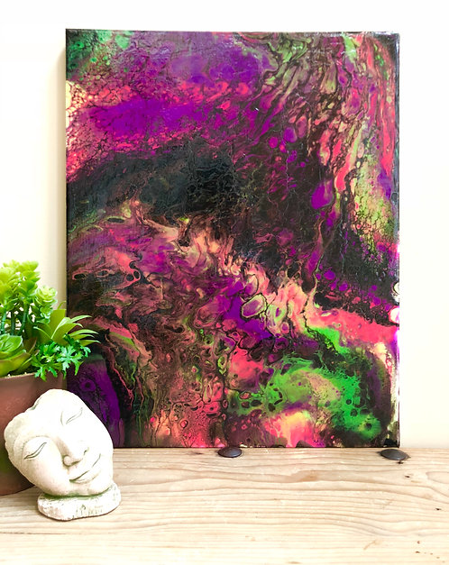 """Purple Rain"" An Abstract Acrylic Painting"