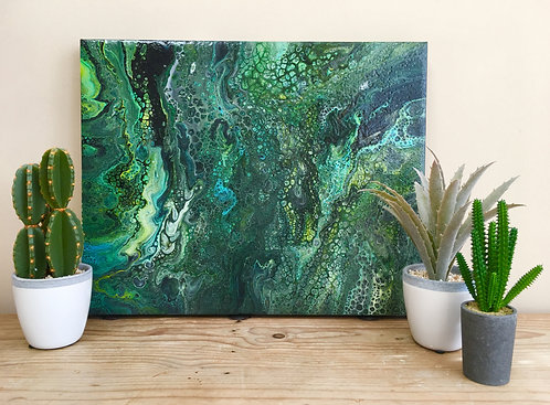 """Nature Flow"" -  An Abstract Acrylic Painting"