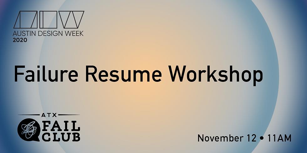 #ADW20 Failure Resume Workshop