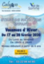 affiche stage natation vacances d'hiver