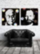 diptyque sting dalaï lama vinyl scuplture duhamel yannick tableaux déco art