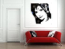 Mylène Farmer vinyl scuplture duhamel yannick tableaux déco art