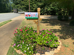 Mailbox with flowers