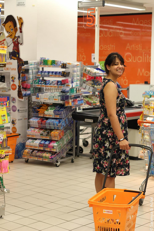 Conad supermarket in Trastevere, Rome