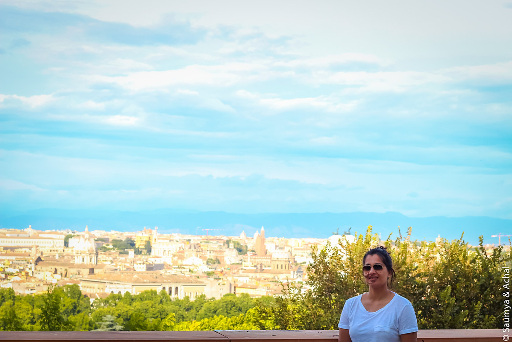 View of Rome from Piazza Garibaldi, Janiculum Hill, Rome