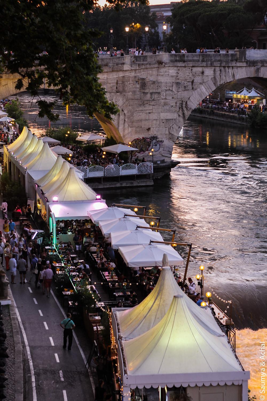 The Tiber festival in Rome
