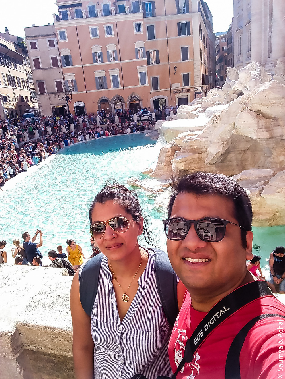 Coin Throwing @ Fontana de Trevi, Rome