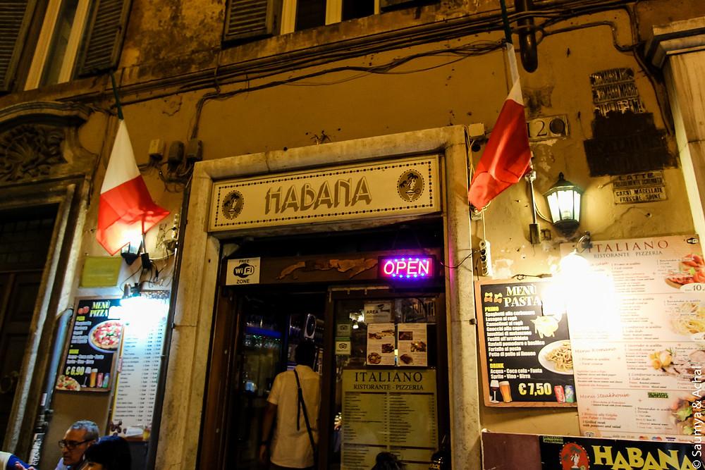 Habana Cafe, Rome